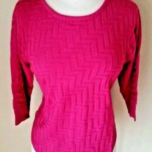 NWT Dana Buchman Pink Zig Zag Sweater